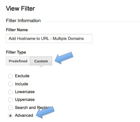 Add Hostname to URL in Analytics