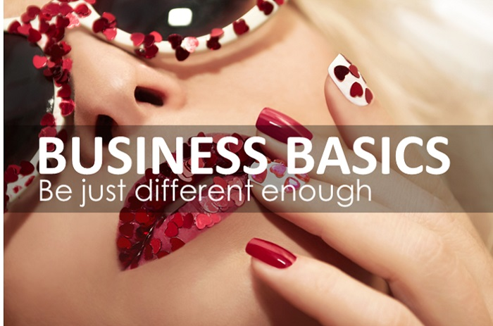 business basics, be just different enough